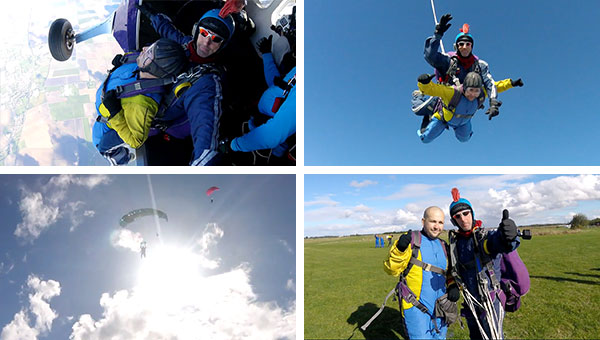 Stuart Davies and Adam Sargeant Sky Dive