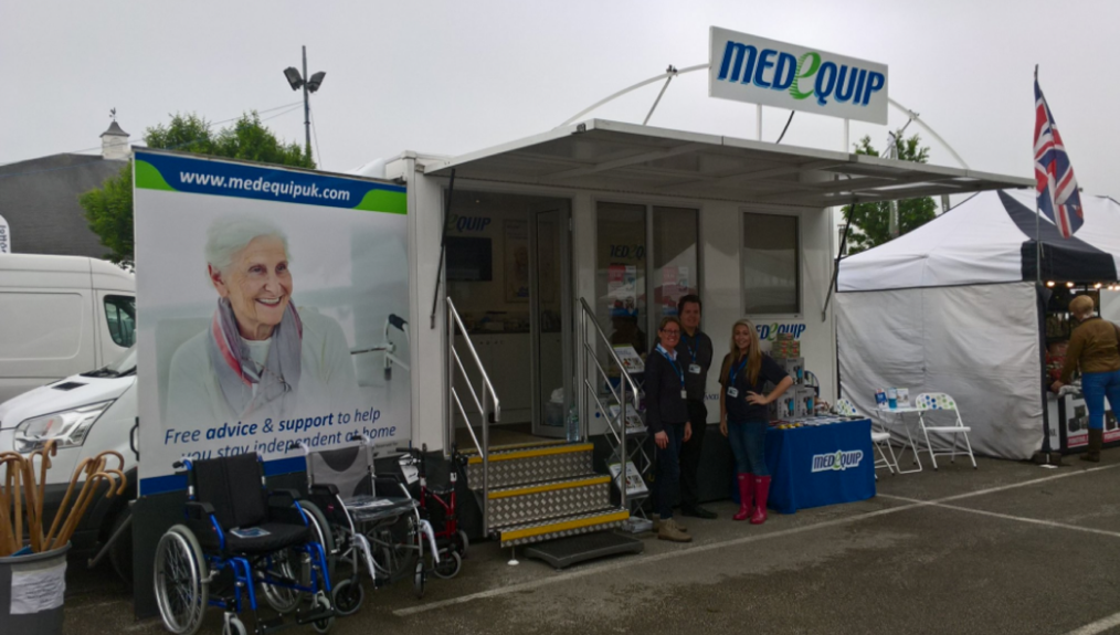 Medequip exhibition unit at Staffordshire County Show 2018