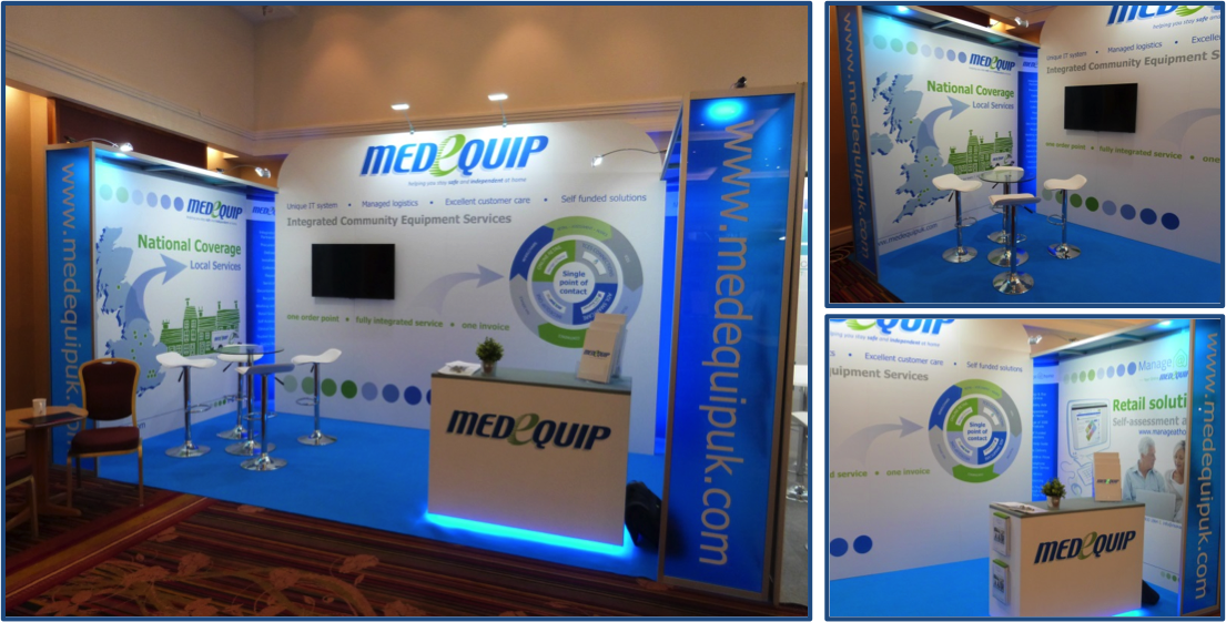 Photo of the new Medequip Exhibition Stand