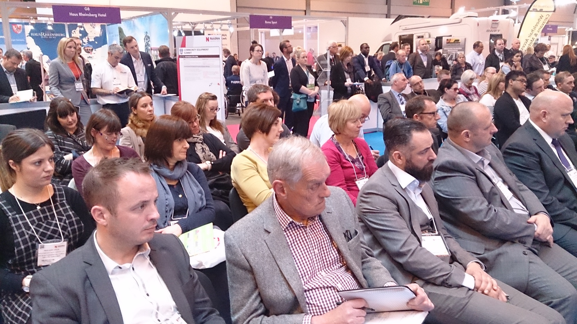 Photo of the Naidex Summit Audience